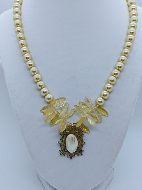 Lemon Pearl Necklace by Cathy Sizer