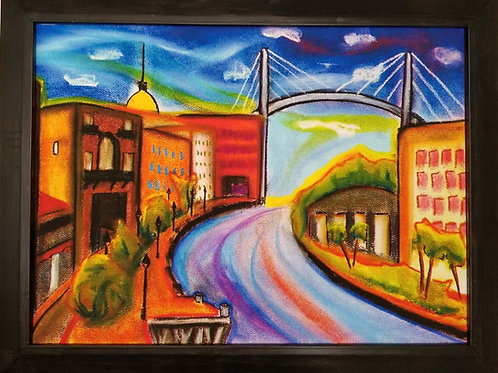 Riverstreet, Savannah River & Bridge by Gary Covell