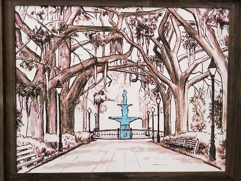 Forsyth Park Fountain Savannah GA by Gary Covell