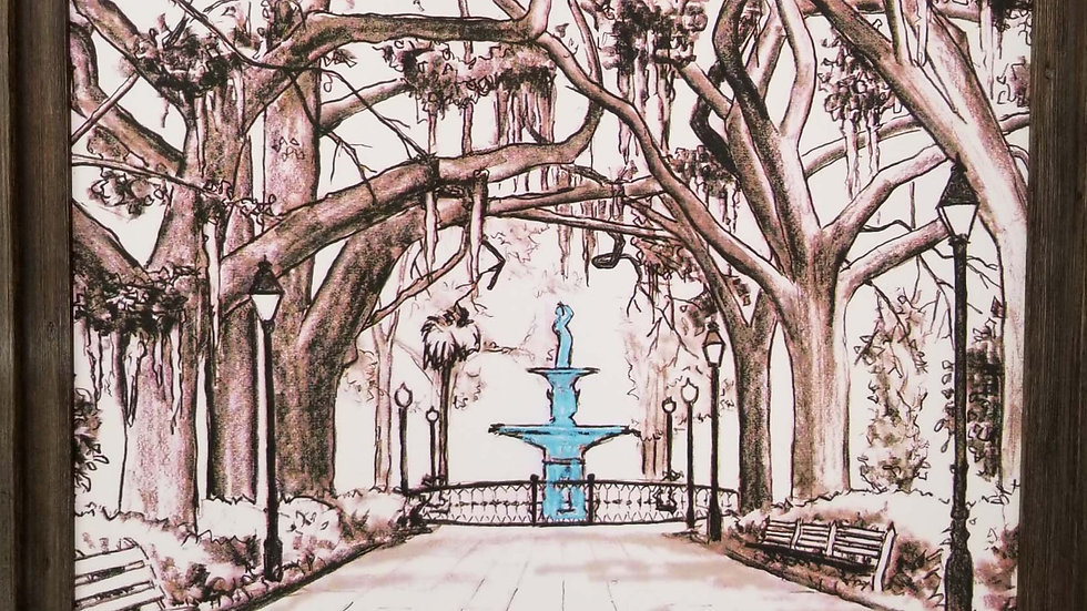 Forsyth Park Fountain Savannah GA by Gary Covell