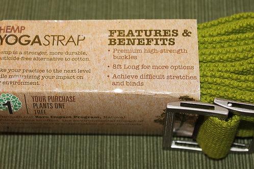 Hemp Yoga Strap- Green