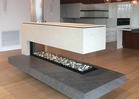 Linear Pier Ortal Fireplace