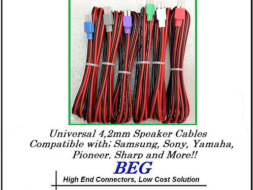 Home Theater Proprietary 12 Foot Speaker Cables for Samsung Sony Pioneer Yamaha