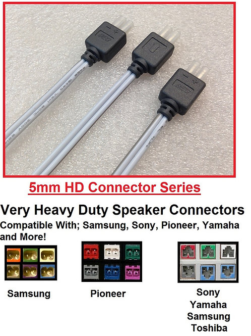 Aftermarket Very Heavy Duty 5mm Home Theater Speaker Connectors