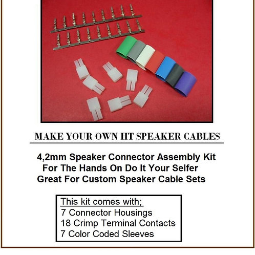 4,2mm Home Theater Speaker Connector Kit for Samsung Sony PioneerYamaha