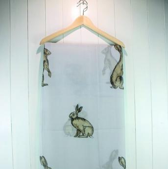 Light Grey Hare Scarf