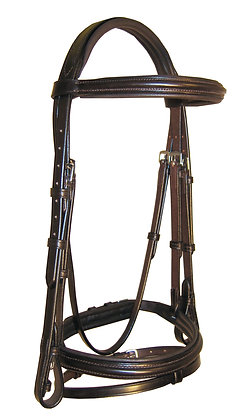 "Ascot Comfort Padded Flash Bridle Pony 1/2"""