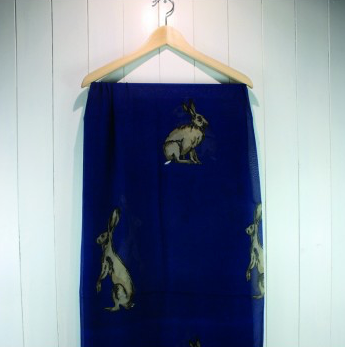 Navy Hare Scarf