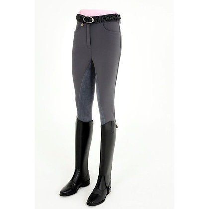 Rugged WP3 Winter Softshell Fullseat Ladies Breeches in Grey