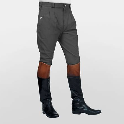 Mark Todd Auckland Pleated Front Breeches in Charcoal