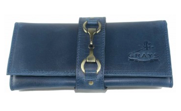 Grays Kate Purse in Blue Natural Leather