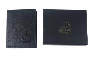Grays Douglas Wallet in Fine Black Leather