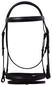 """Ascot Comfort Padded Flash Bridle 3/4"""" Hunt Weight"""