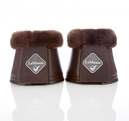 LeMieux Lambskin Faux Leather Over Reach Boots Brown/Brown