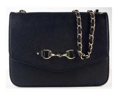 Grays Elizabeth Evening Bag in Fine Black Leather