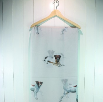 Light Grey Jack Russell Scarf