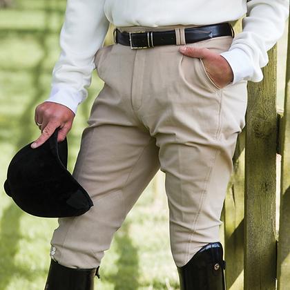 Equetech Mens Foxhunter Hybrid Breeches in Beige