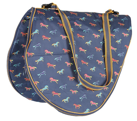 Shires Horse Print Saddle Bag