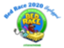 Bed Race 2020 Unplugged logo with plug -