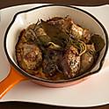 サルシッチャと豚レバーのオーブン焼き
