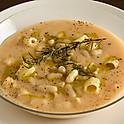 ショートパスタと白いんげんのスープ