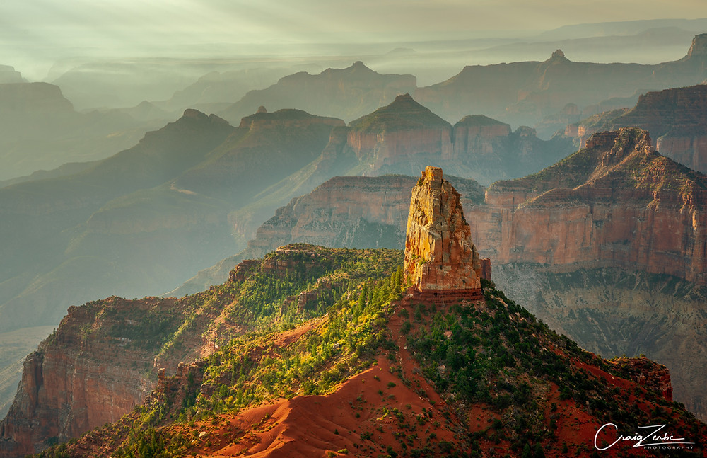 Rising sun on Mount Hayden - Point Imperial - Grand Canyon National Park - Photo Workshop