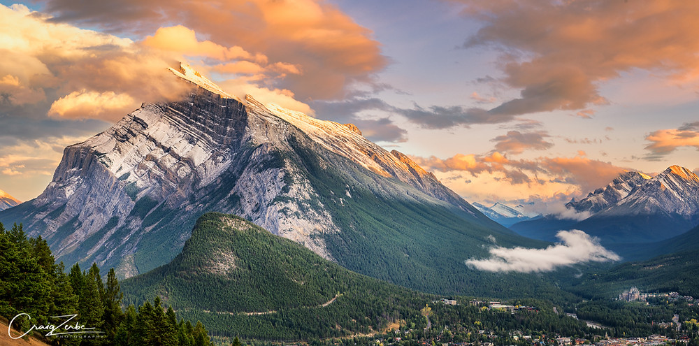 Mount Rundle and Banff Canada