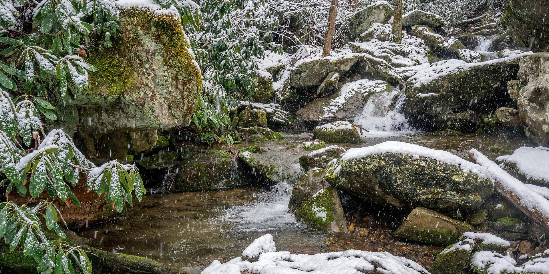 Otter Falls in Seven Devils, North Carolina