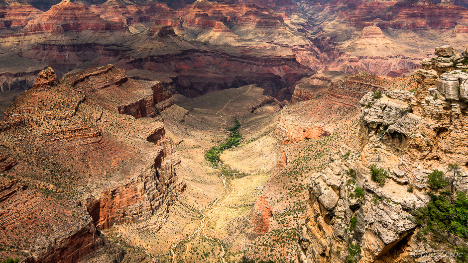 Grand Canyon National Park Bright Angel Trail and Indian Gardens