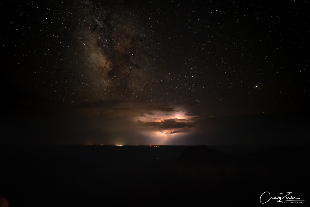 Grand Canyon night sky milky way -  photo guide