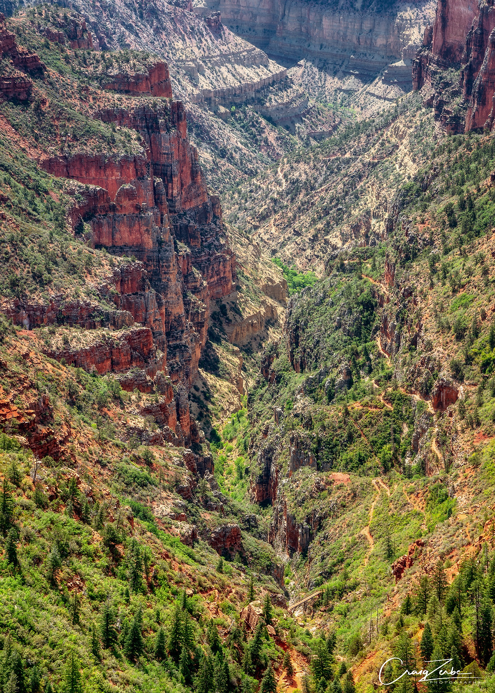 Coconino Overlook on the North Kaibab Trail - Grand Canyon National Park - Photo guide