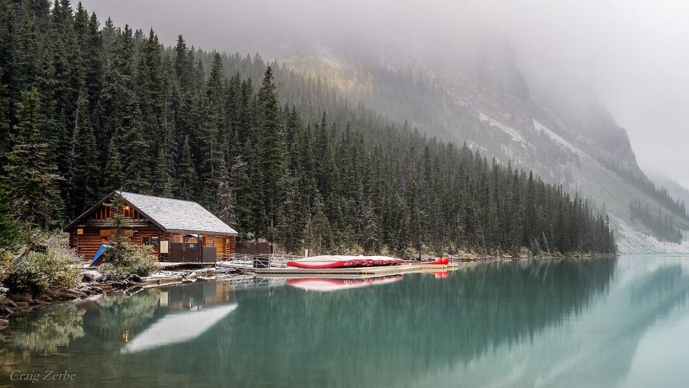 Lake Louise Boat House - Banff National Park