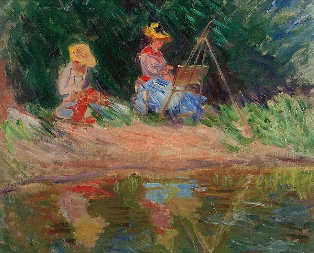 Image of Blanch Monet Painting by Claude Monet