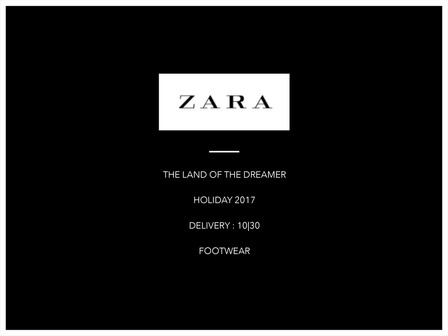 The Land Of The Dreamer | Zara Footwear Collection