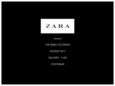 The Rebel Victorian | Zara Footwear Collection