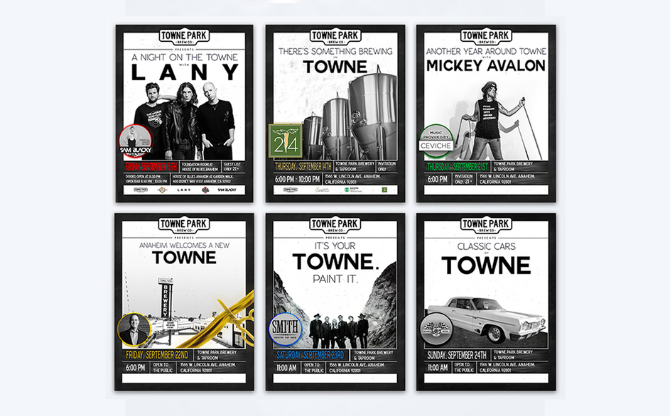 Event Posters | Towne Park Brewery