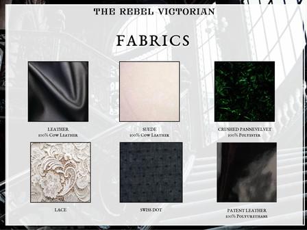 The Rebel Victorian | Fabrics