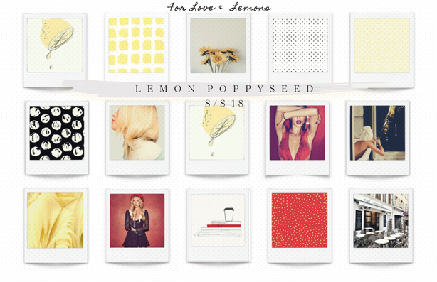For Love & Lemons Collection | Theme Board