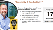 "Webinar: ""Creativity & Productivity"" by Chris Griffiths"