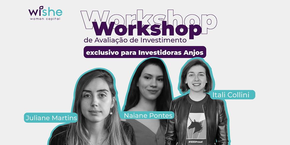 Workshop de avaliação de investimentos para investidoras anjo
