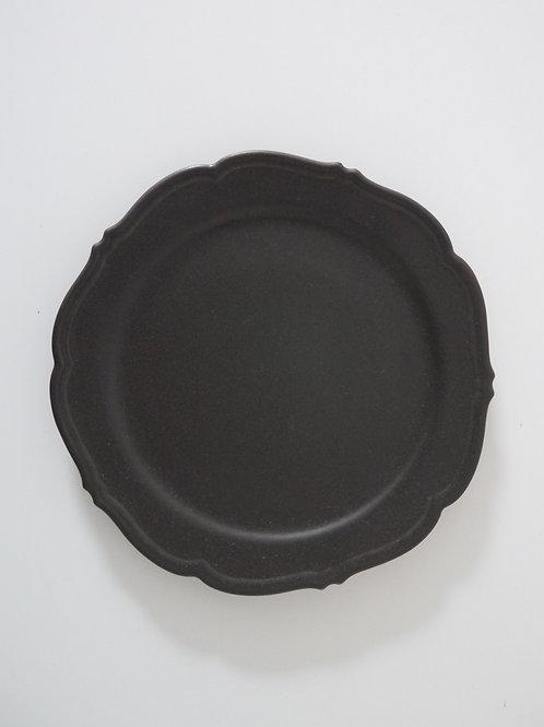 """""""RINKA"""" Rim Dinner Plate, Matte Black"""