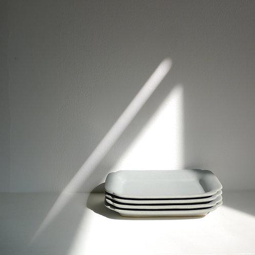 Rectangle Plate/Tray, Matte Blue Gray