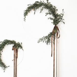 Custom made minimal wreath