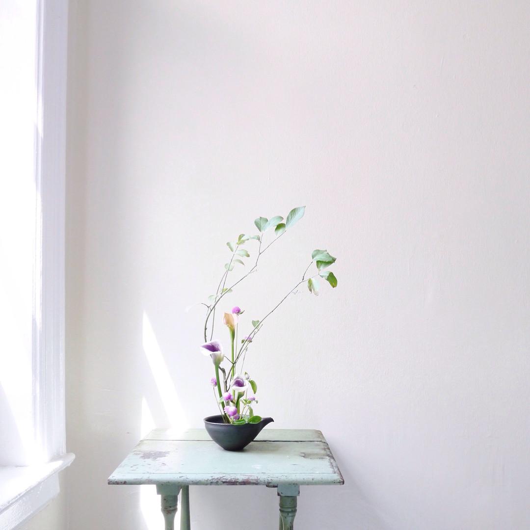 Ikebana Style Floral Arrangement