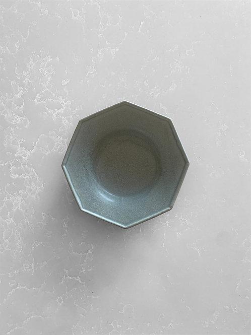 Octagonal Sauce Dipping Bowl, Matte Blue Gray