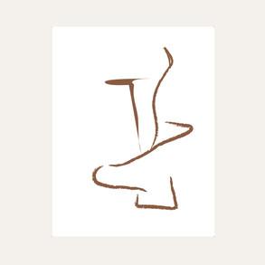 Ikebana Drawing 02 Brown web.jpg