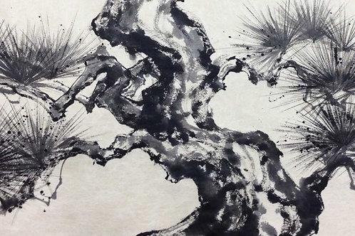 Sumi Art: MATSU Pine tree
