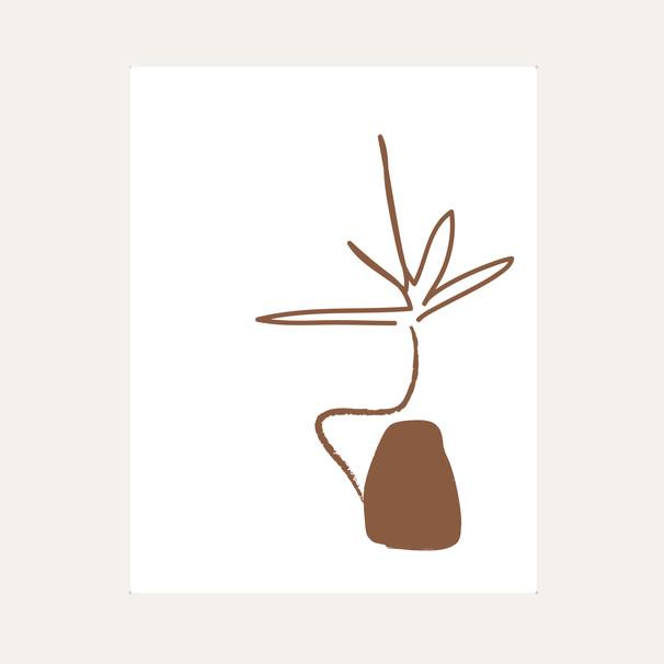 Ikebana Drawing 04 Brown web.jpg