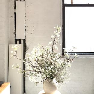Ikebana Style Arrangement-White