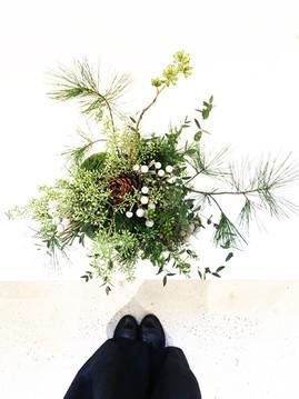 Greenery Arrangement inspired by Bonsai